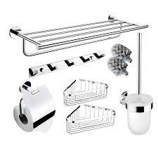 silver bathroom accessories set wall