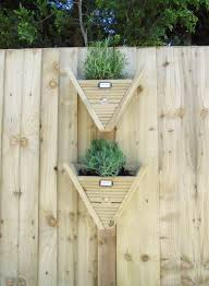 Small Wooden Triangle Hanging Herb Planters Pots Vertical Gardening Milton Keynes