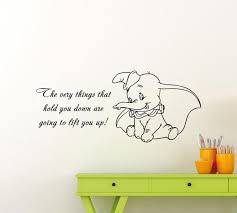 Dumbo Quote Wall Decal Disney Elephant Cartoon Vinyl Sticker Etsy