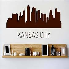 Design With Vinyl Cryst 433 892 Brown Kansas City Missouri Skyline City View Beautiful Scene Landmarks Buildings And Water Vinyl Wall Decal Art 8 Inch X 32 Inch Brown Amazon Com