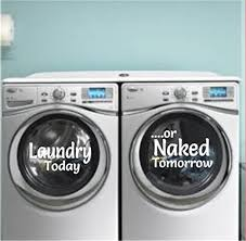 Washer Dryer Decals Stickers Laundry Room Decor Laundry Today Naked Tomorrow Vinyl Decal Washer Decal Dryer Decal Laundry Decal Dirty Laundry Removable Laundry Decals For Laundry Room Amazon Com