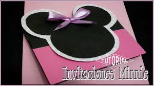 Invitaciones De Minnie Mouse Rosa Youtube