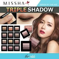 korean missha triple shawdow eye makeup