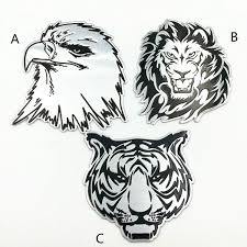 Car Decoration Metal Stickers Waterproof 3d Lion Eagle Tiger Shape Design Emblem Badge Decal Truck Auto Styling Car Accessories Wish