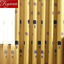 Cartoon Soldiers Curtain For Boys Kid Room Blackout Yellow Sheer Rice Flag Design Blue Curtain For Window Bedroom Drapes X535 30 Curtains Aliexpress