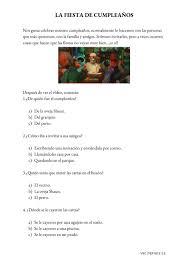La Fiesta De Cumpleanos Interactive Worksheet