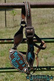 rockstar custom leather bronc halter