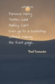 potter quotes of newt scamander quote pictures