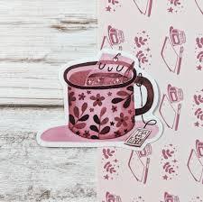 Cozy Tea Vinyl Sticker Cissy S Art Cafe
