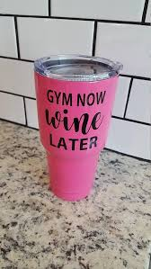 Gym Now Wine Later Decal For Flask Water Bottle Yeti Etsy Flask Flask Bottle Flask Water Bottle