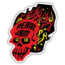 Sticker Pearl Jam Skull Muraldecal Com