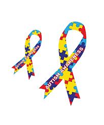 Autism Awareness Ribbon Large Magnetic Car Decal 2 Sizes