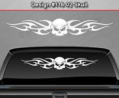 116 02 Skull Back Window Decal Sticker Vinyl Graphic Tribal Flame Wings Car Suv 15 99 Picclick