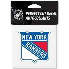 New York Rangers Official Nhl 4 Inch X 4 Inch Die Cut Car Decal By Wincraft Ny Sports Shop