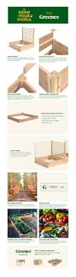 Greenes Fence 4 Ft X 4 Ft X 11 In Premium Cedar Raised Garden Bed With Trellis Rc484812ptre The Home Depot