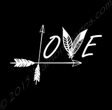 Love Arrow Feather Vinyl Car Laptop Or Yeti Decal Also Included In Your Package Complete Installation I Dream Catcher Decal Arrow Tattoos Arrow Feather