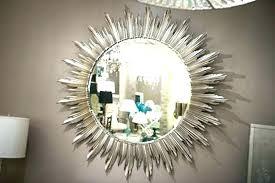 mirrored sunburst uk rattan mirror