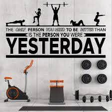 Amazon Com 20 X 35 In Motivational Inspirational Gym Wall Decals Workout Fitness Crossfit Exercise Room Art Decor Vinyl Stickers Quotes Sayings Signs Poster Decorations Beast Mode On Gy331 Home Kitchen