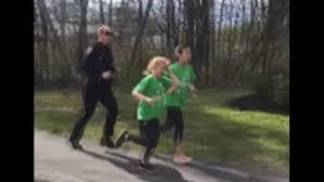 Gorham Police officer runs alongside 'Girls on the Run' |  newscentermaine.com