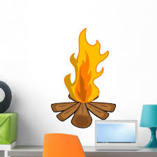 Amazon Com Wallmonkeys Camp Fire Wall Decal Peel And Stick Graphic Wm126497 18 In W X 14 In H Home Kitchen