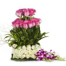rose and orchid bouquet gifts