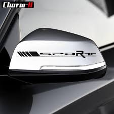 2pcs Reflective Side Rear View Mirror Vinyl Decal Stickers For Mercedes Benz Amg Sport W204 W117 W176 W205 Car Decals Stickers Cool Car Stickers Car Lettering