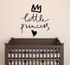Vinyl Wall Decal Baby Room Little Princess Letters Love Crown Stickers Wallstickers4you