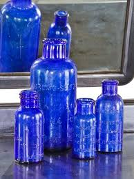 antique american cobalt blue glass