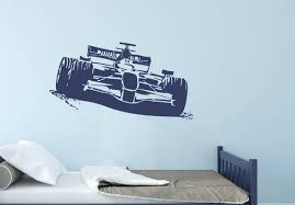 Sports Car Racing F1 Formula 1 Wall Decal Sports Car Racing Etsy