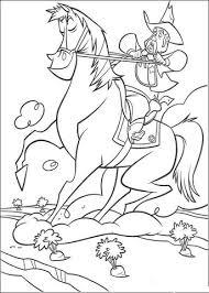 Cowboy Rijdt Paard Kleurplaat Gratis Kleurplaten Printen