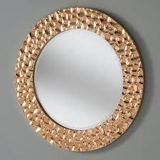 wall mirror bubble effect copper
