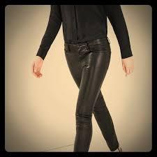 zara pants faux leather skinny jeans