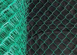 Outdoor European Green Pvc Coated Chain Link Fabric Fencing And Post System Kits