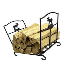 log rack fire wood holder wrought iron