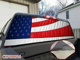 American Flag Stars And Stripes Rear Window Graphic Decal Tint Sticker Truck Cap Auto Parts And Vehicles Car Truck Graphics Decals Magenta Cl