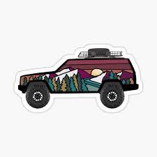 Jeep Cherokee Stickers Redbubble