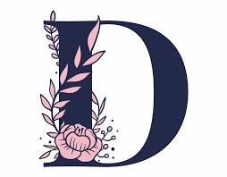 Floral Alphabet D Letter - Letter   Transparent PNG Download ...