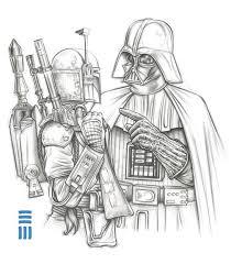 Darth Vader / Boba Fett Preliminary Sketch by Erik-Maell on DeviantArt |  Dibujos, Fondos de comic, Dibujos de star wars