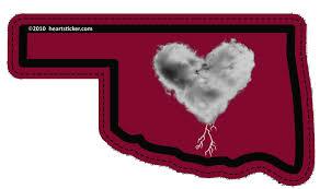 Heart In Oklahoma Ok Sticker All Weather High Quality Vinyl Sticker Heart Sticker Company