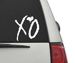 Xo The Weeknd Drake Car Decal 5 X5 4 00 Default Color Is White Please Specify Color By Using The Contact Seller Bu Car Decals Bumper Stickers Vinyl Decals