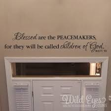 Matthew 5v9 Vinyl Wall Decal 2 Blessed Are The Peacemakers