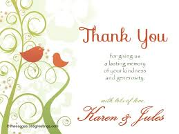 wedding thank you card messages for