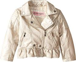 kids baby girl s metallic faux leather