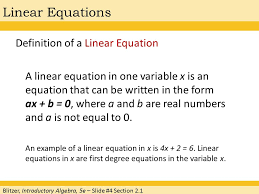 chapter 2 linear equations and