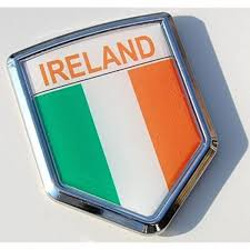 Amazon Com Ireland Decal Irish Flag Car Chrome Emblem Sticker Automotive