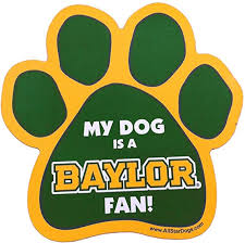 Amazon Com Ncaa Baylor Bears Paw Print Car Magnet Sports Fan Automotive Magnets Sports Outdoors