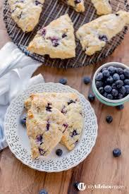 Blueberry Scones with Vanilla Glaze + ...