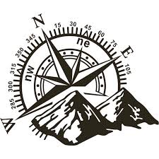 1pcs 3d High Quality Car Sticker Durable Compass Rose Navigate Mountain 4x4 Offroad Vinyl Sticker Decal Car Decal Black Car Stickers Car Decals Vinyl For Cars