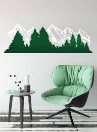 Alaska Snow Mountain And Forest View Wall Decal Sticker 6096 Stickerbrand