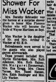 Myrtle Richardson, in Adamson attend shower for Florence Wacker -  Newspapers.com